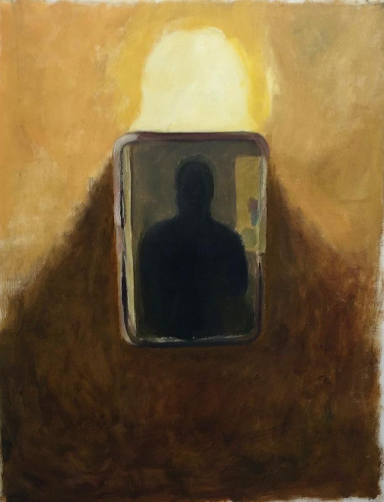 'Bathroom Mirror', 2016, ett konstverk av Victoria West