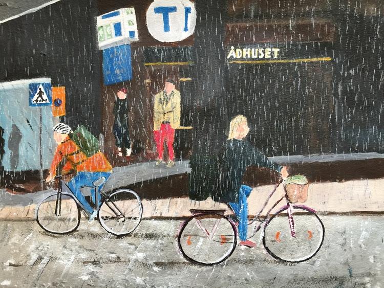 'Kungsholmsgatan', 2017, ett konstverk av Anders Gabrielsson