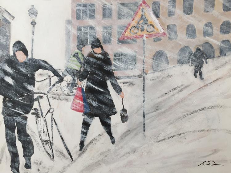 'Busväder i stan', 2018, ett konstverk av Anders Gabrielsson