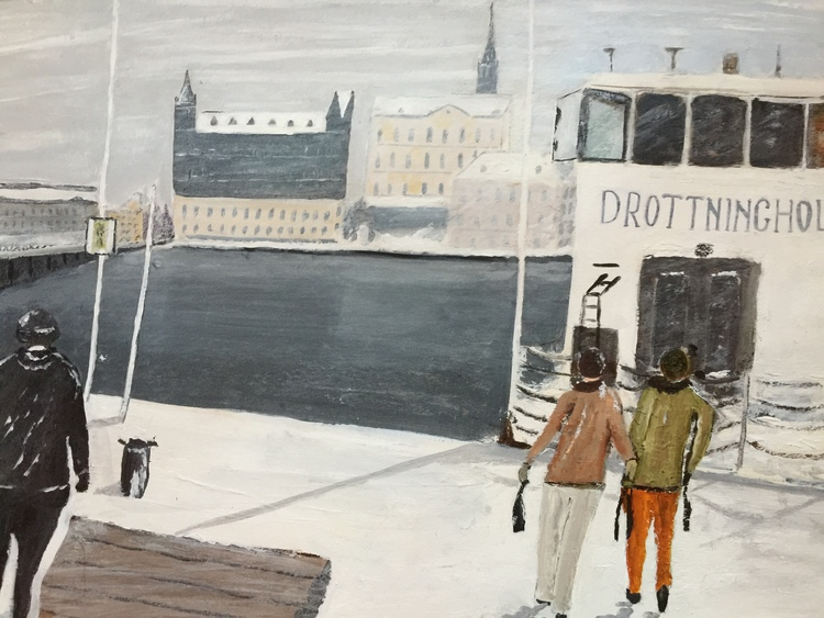 'Stadshuskajen', 2017, ett konstverk av Anders Gabrielsson