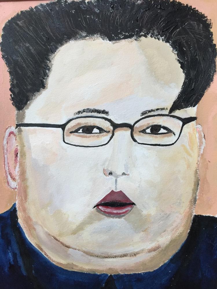 'Kim', 2018, ett konstverk av Anders Gabrielsson