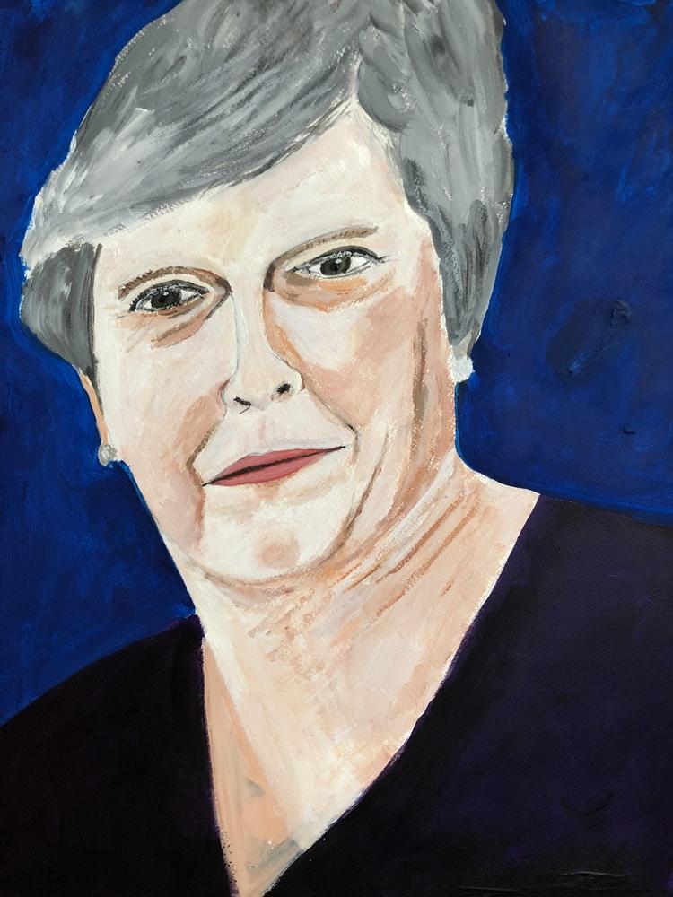 'Theresa', 2018, ett konstverk av Anders Gabrielsson