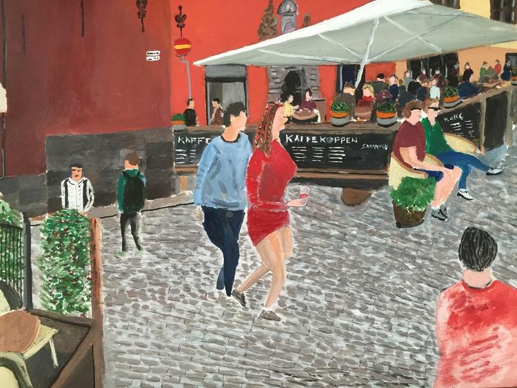'Stortorget mot Kåkbrinken', 2016, ett konstverk av Anders Gabrielsson