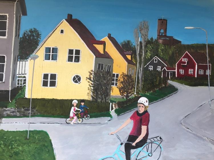 'Sommar i Bromma', 2017, ett konstverk av Anders Gabrielsson