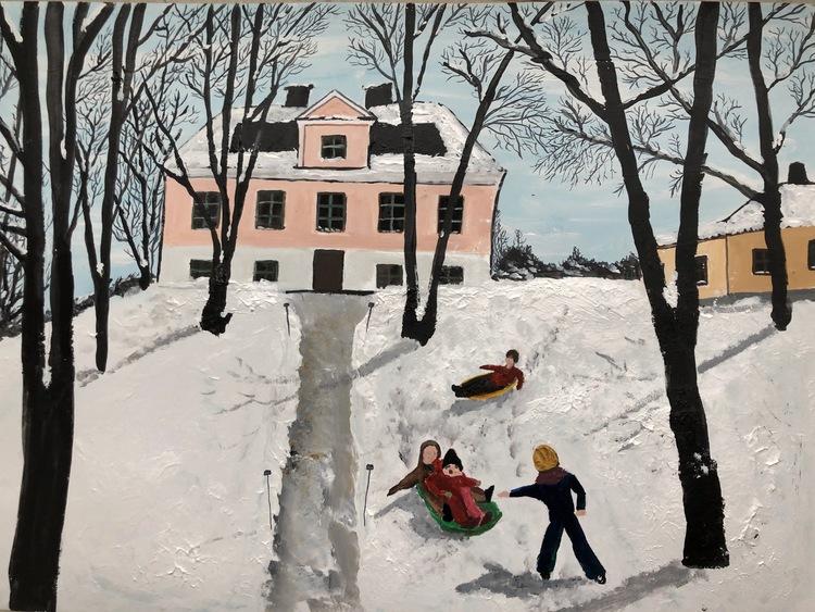 'Ängby Slott', 2019, ett konstverk av Anders Gabrielsson