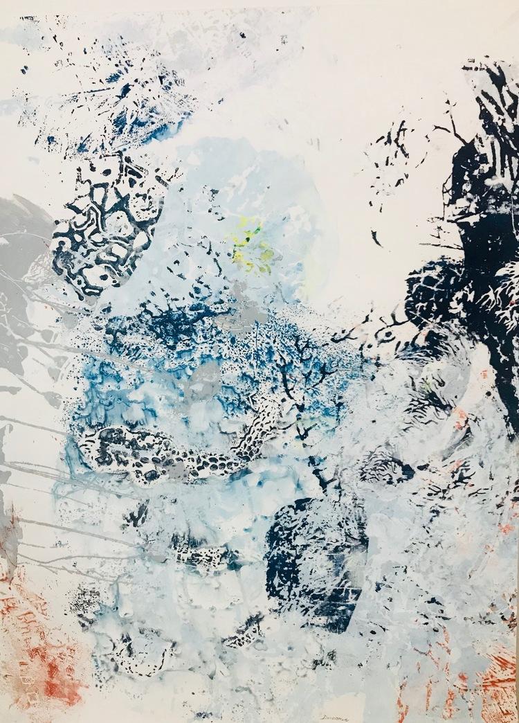 'Blue Garden #4', 2018, ett konstverk av Amélie Ducommun