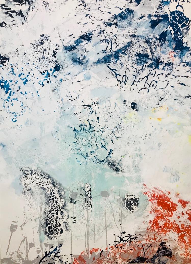 'Blue Garden #5', 2018, ett konstverk av Amélie Ducommun