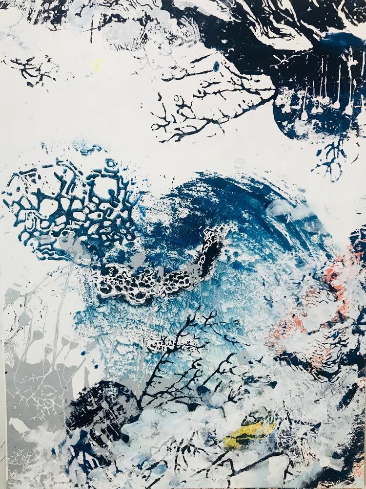 'Blue Garden #6', 2018, ett konstverk av Amélie Ducommun
