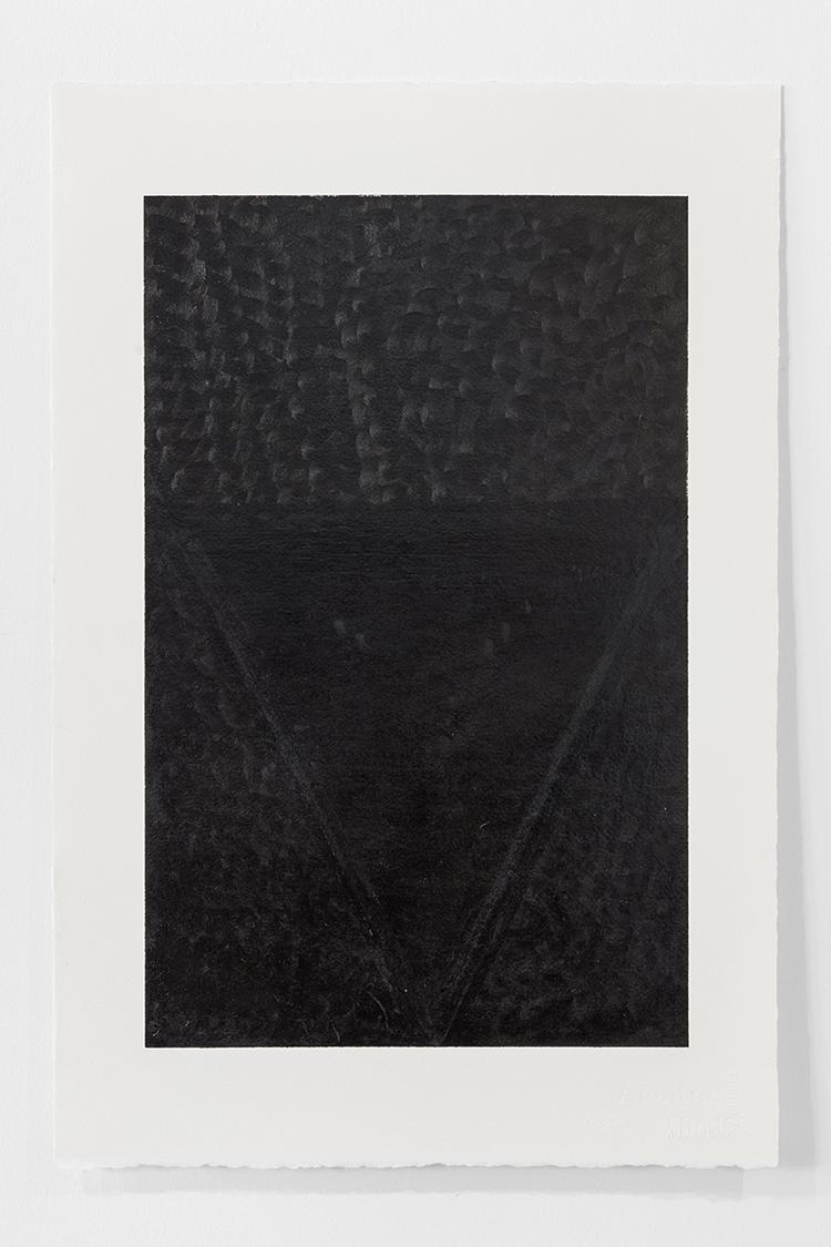 'Black Landscape I', 2019, ett konstverk av Magda Delgado