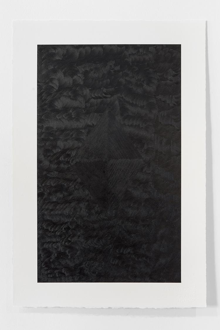 'Black Landscape V', 2019, ett konstverk av Magda Delgado
