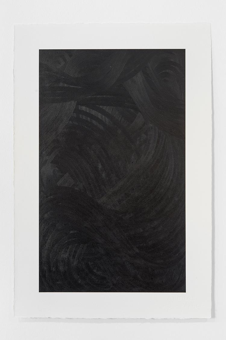 'Black Landscape VII', 2019, ett konstverk av Magda Delgado