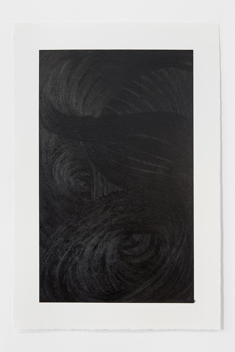 'Black Landscape II', 2019, ett konstverk av Magda Delgado