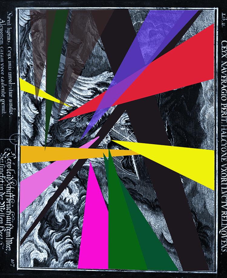 'Sea of Solitude noir, print, signerad, numrerad.', 2019, ett konstverk av Ann Frössén