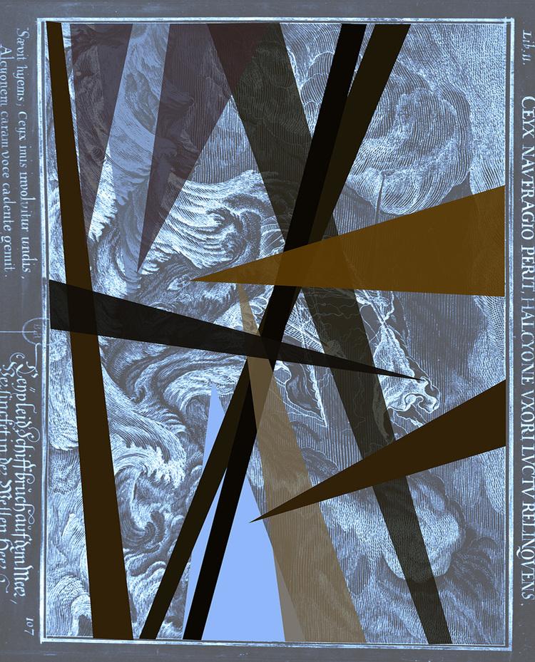 'Sea of Solitude grey, print, signerad, numrerad.', 2019, ett konstverk av Ann Frössén