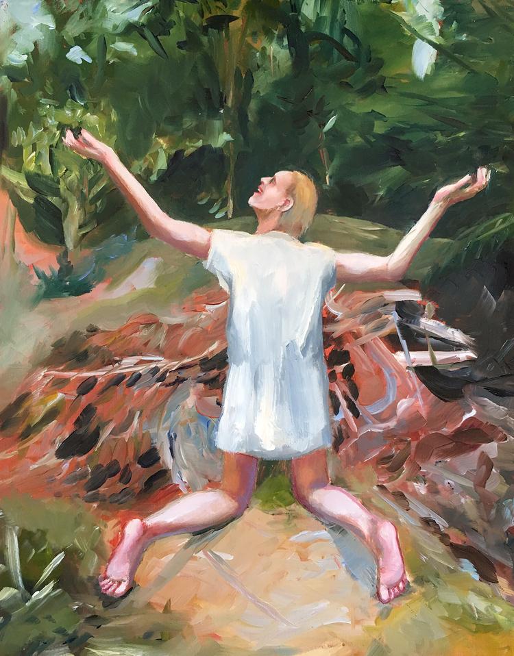 'Fire spirit', 2019, ett konstverk av Kristoffer Grip