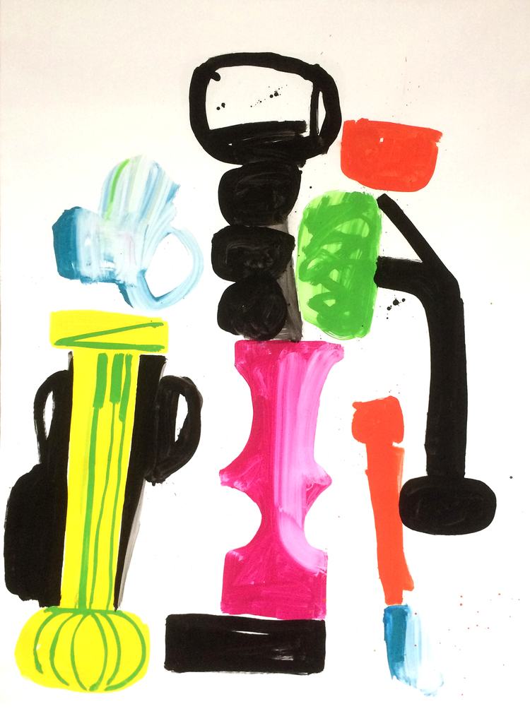 'Vase & Plant', 2017, ett konstverk av Maria Lundström