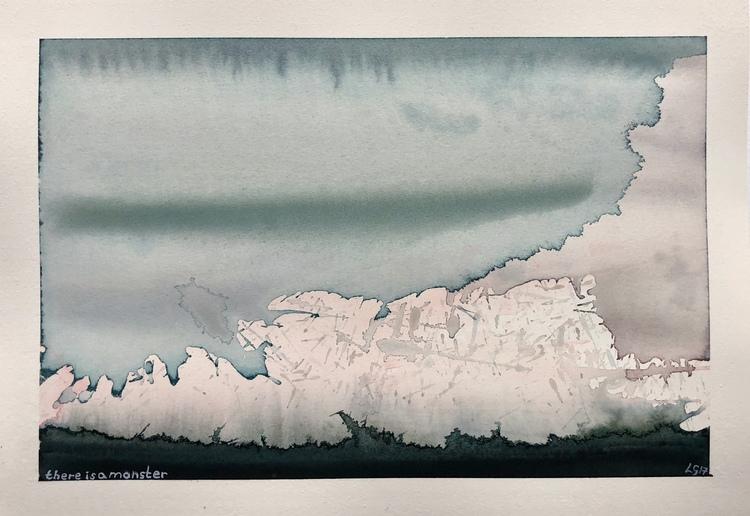 'There is a Monster', 2017, ett konstverk av Lukas Göthman