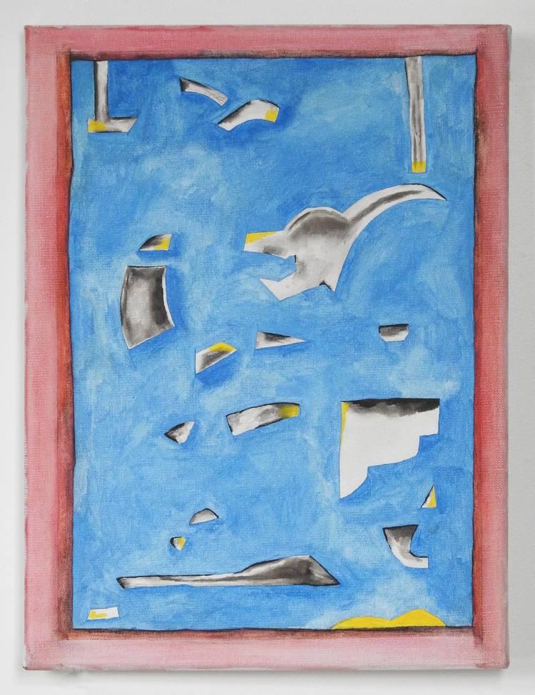 'Representation av målning av de Keyser (2)', 2019, ett konstverk av Emil Carlsiö
