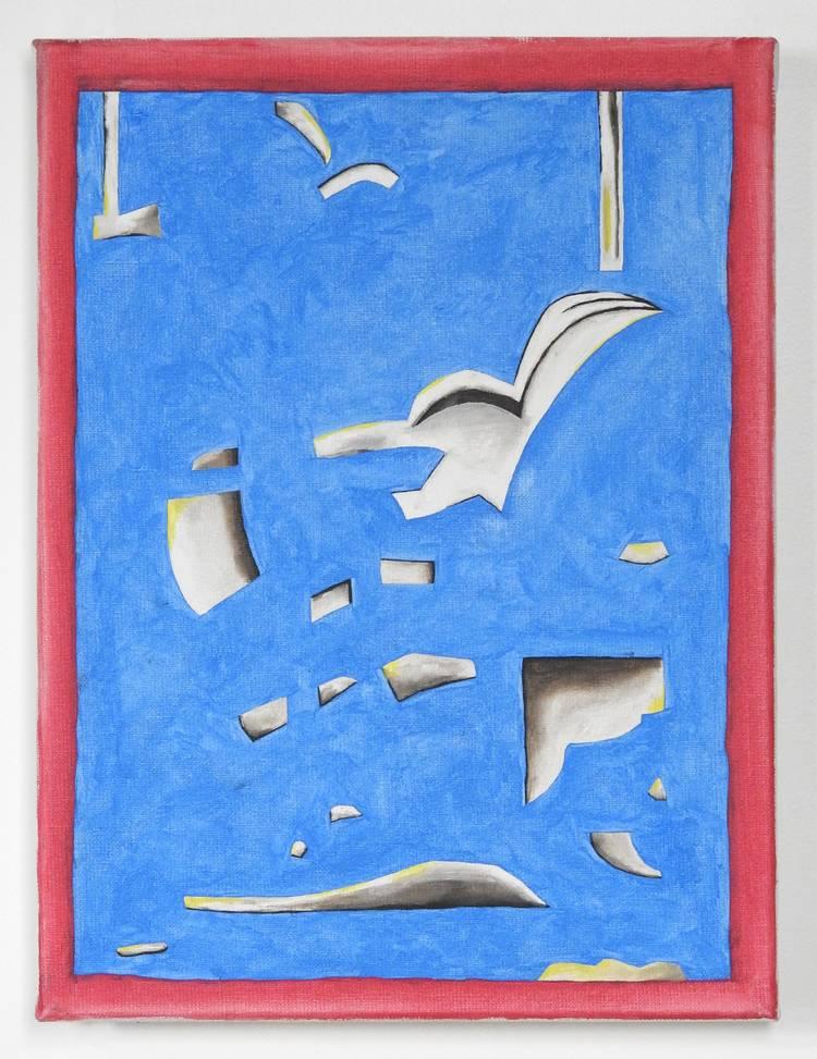 'Representation av målning av de Keyser (3)', 2019, ett konstverk av Emil Carlsiö