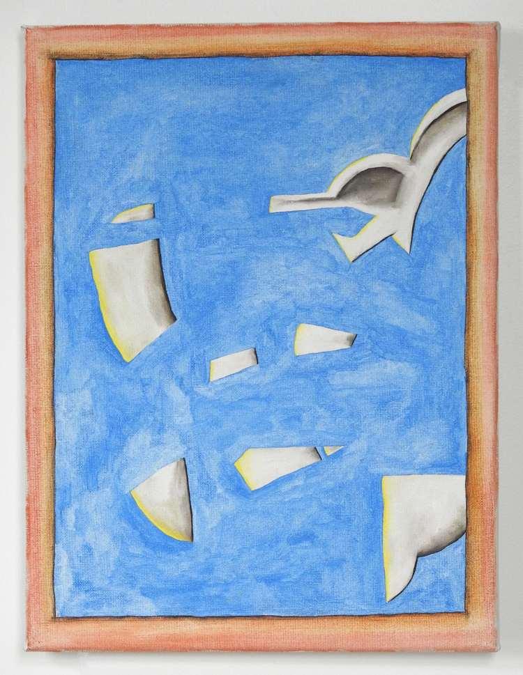 'Representation av målning av de Keyser (4)', 2019, ett konstverk av Emil Carlsiö