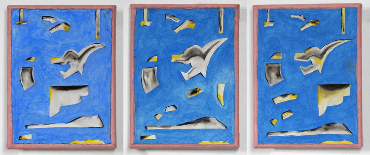 'Representation av målning av de Keyser (6-8, triptyk)', 2019, ett konstverk av Emil Carlsiö