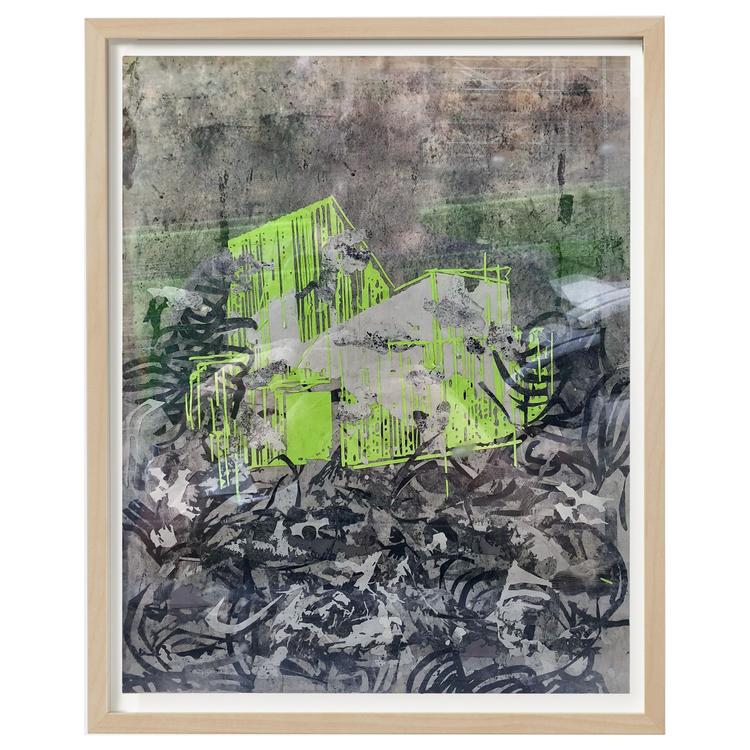 'House composition nr.5', 2018, ett konstverk av Luka Juras