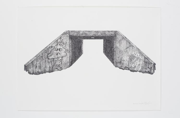 'Teenage canvas II', 2016, ett konstverk av Anders Granberg
