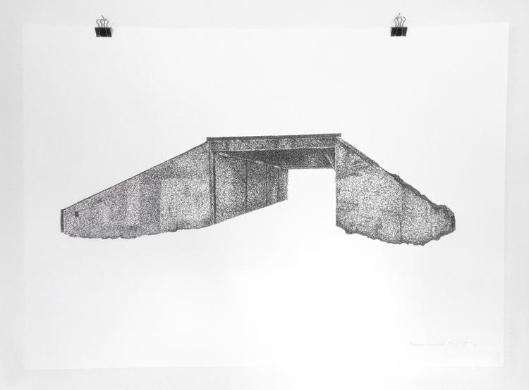 'Teenage canvas V', 2016, ett konstverk av Anders Granberg