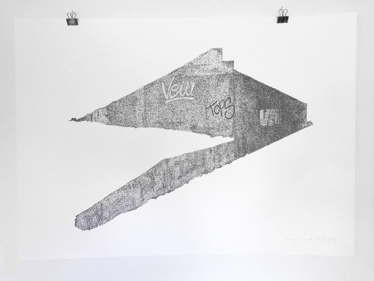 'Teenage canvas VIII', 2016, ett konstverk av Anders Granberg