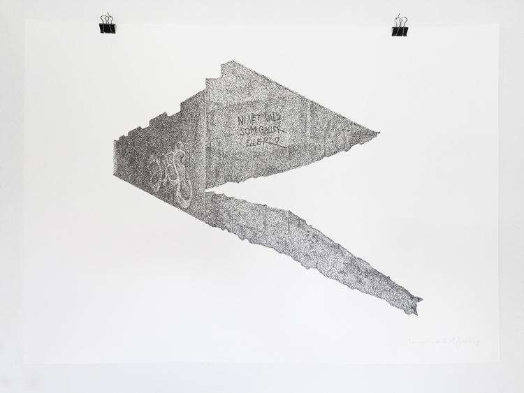 'Teenage Canvas X', 2016, ett konstverk av Anders Granberg