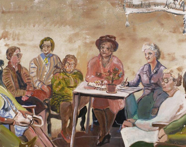 'Vroeklub von R.S.A,', 2018, ett konstverk av Tilpo