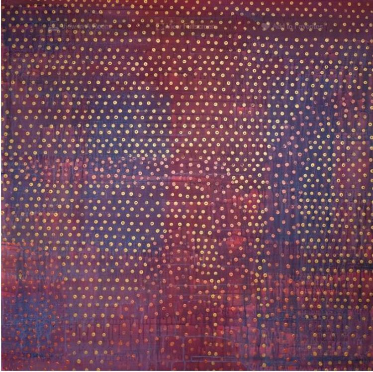 'Running dots (living in a dream)', 2019, ett konstverk av Bahar
