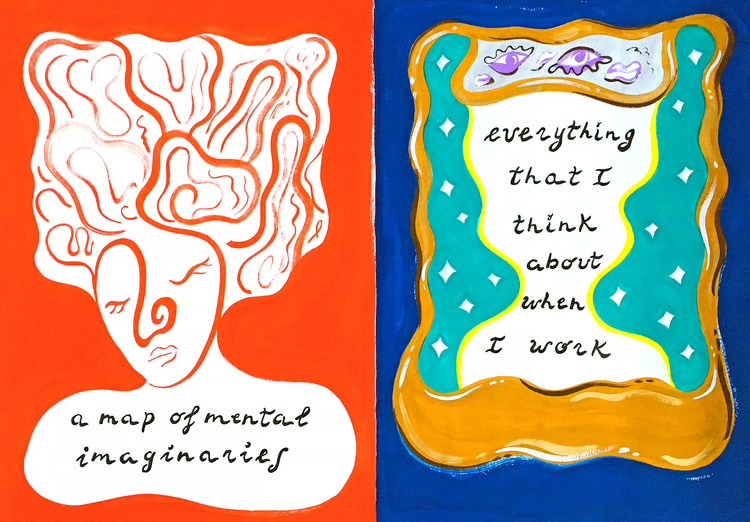 'Everything I Think About When I Work', 2018, ett konstverk av Benedetta Crippa