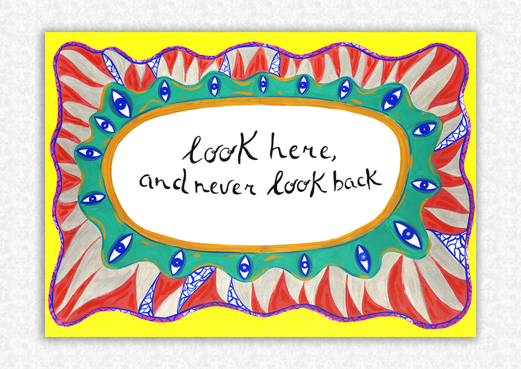 'Look Here, and Never Look Back', 2020, ett konstverk av Benedetta Crippa