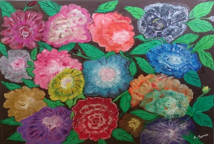 'The Flowers ', 2016, ett konstverk av Ali Soror