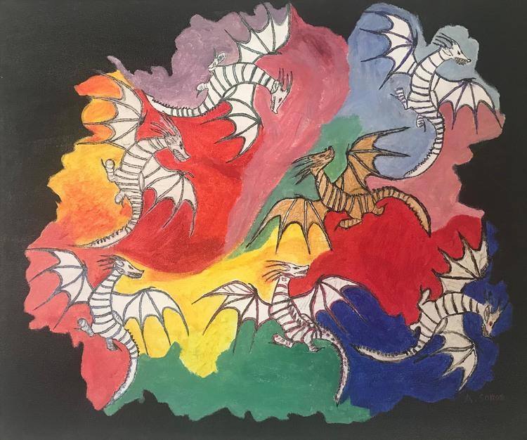 'Dragon dans', 2017, ett konstverk av Ali Soror