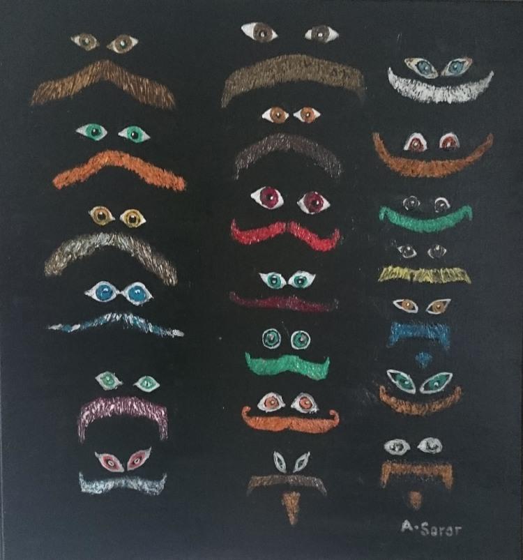 'Mustache', 2015, ett konstverk av Ali Soror