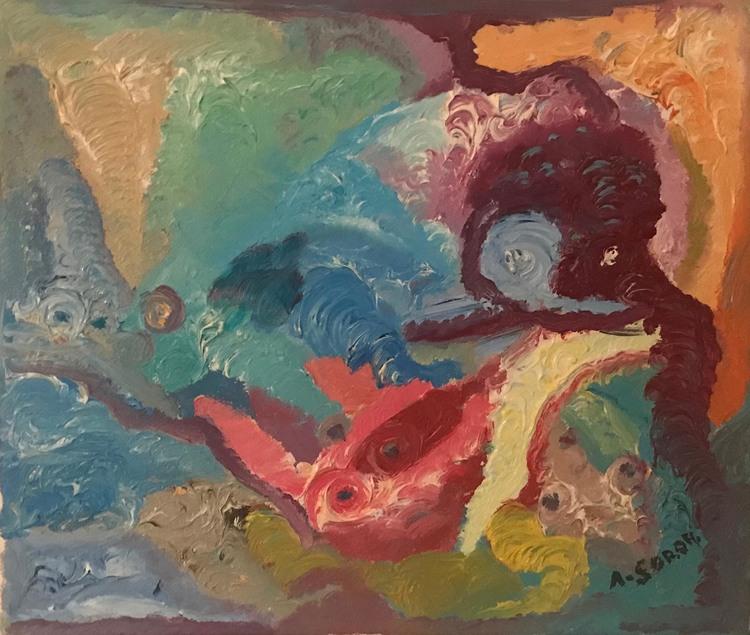 'Into the deep', 1999, ett konstverk av Ali Soror