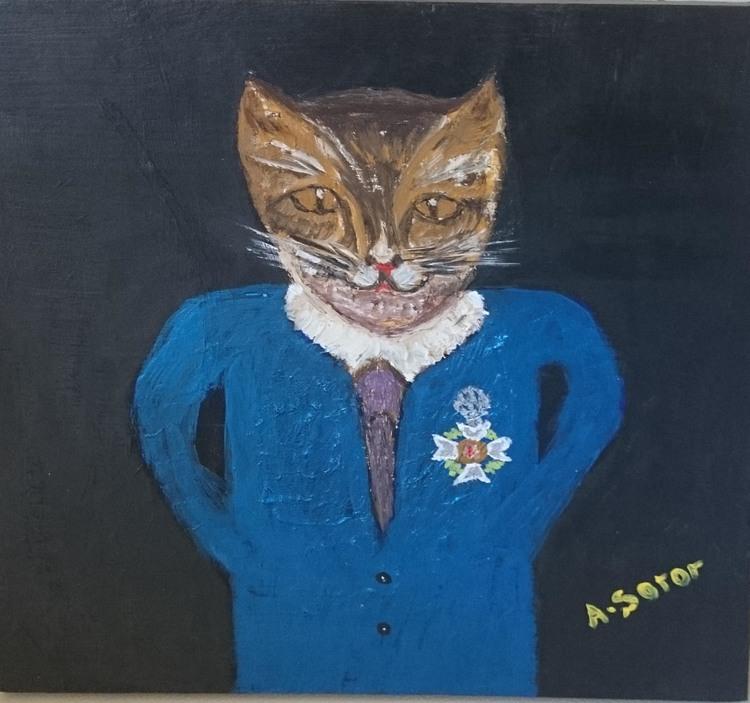 'Vetran cat', 2017, ett konstverk av Ali Soror