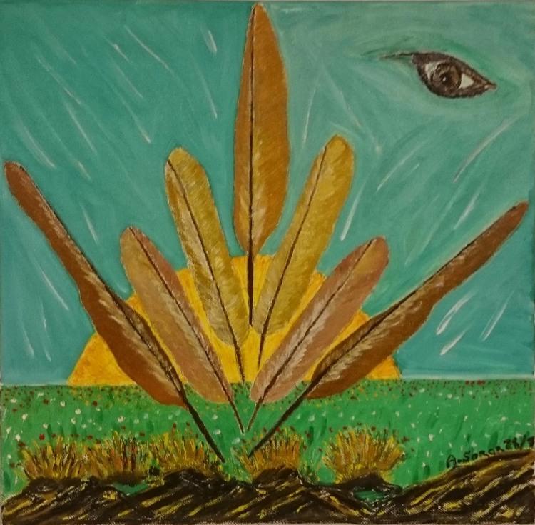 'The Feathers', 2012, ett konstverk av Ali Soror
