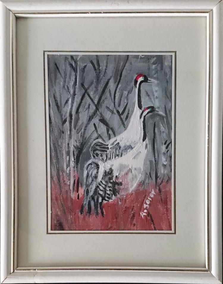 'Cranes (Tranor)', 2019, ett konstverk av Ali Soror