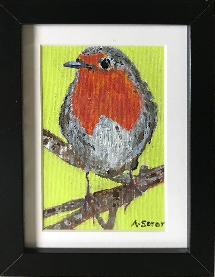 'Robin (Rödhaka)', 2018, ett konstverk av Ali Soror