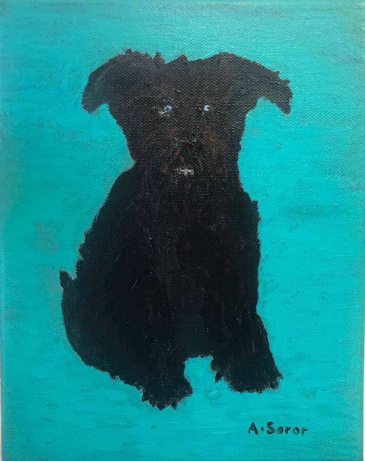 'Hunden Ronja', 2019, ett konstverk av Ali Soror
