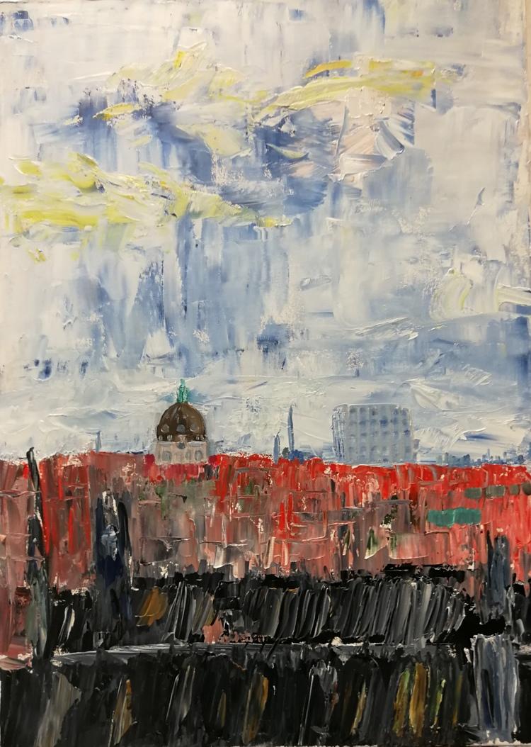 'Hägringen i luften', 2018, ett konstverk av Dan Ridemar