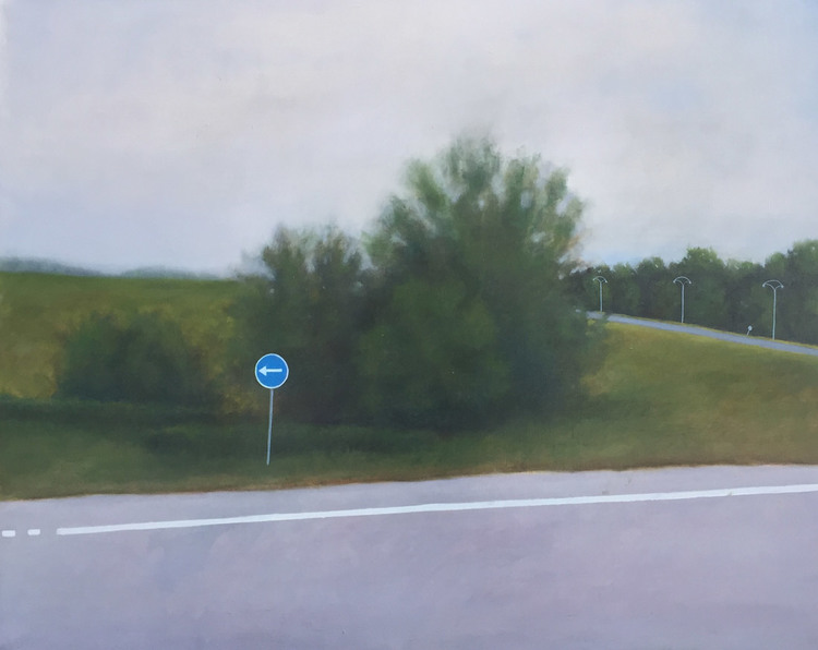 'Forest and road', 2013, ett konstverk av Alexander Hult