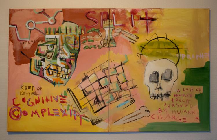 'Split', 2018, ett konstverk av Alex Viik