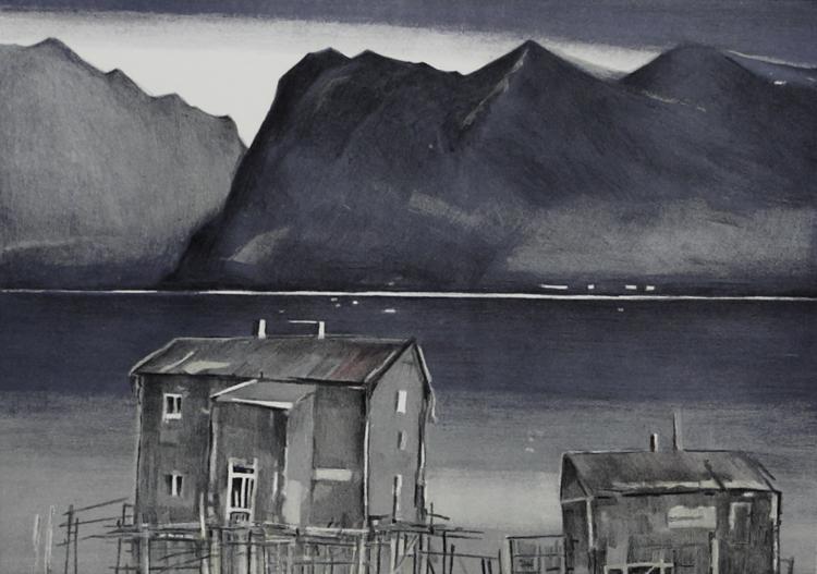 'Lofoten', 2019, ett konstverk av Ria Roes Schwartz