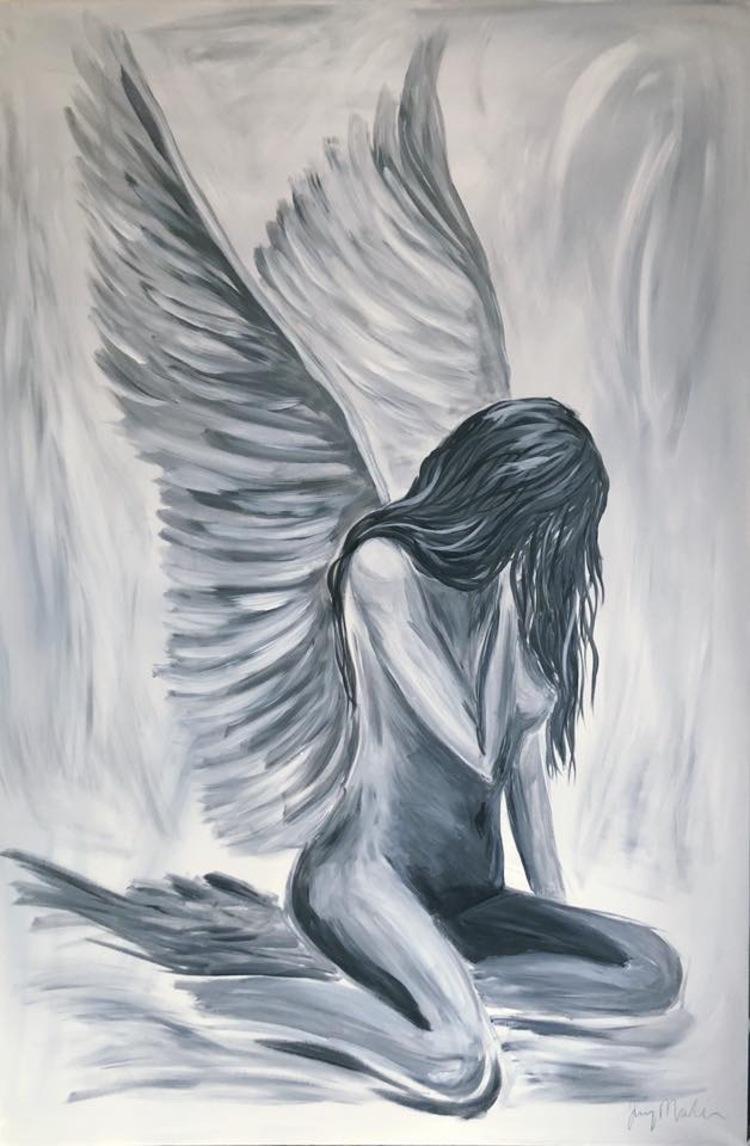 'The Angelic in her', 2018, ett konstverk av Jenny Molin