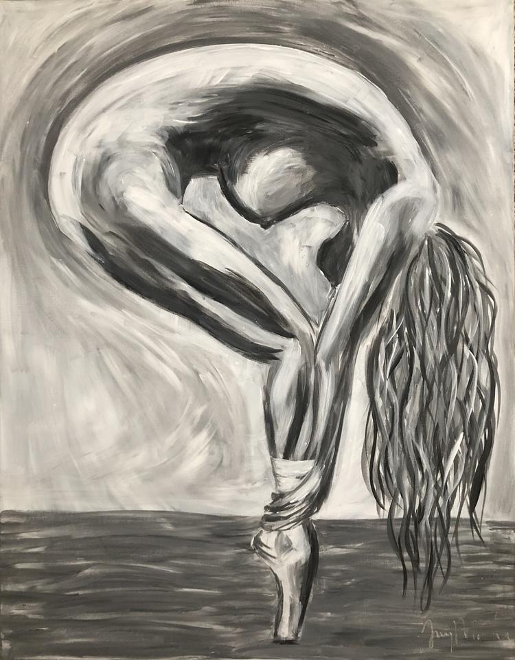 'The Balance in her', 2018, ett konstverk av Jenny Molin