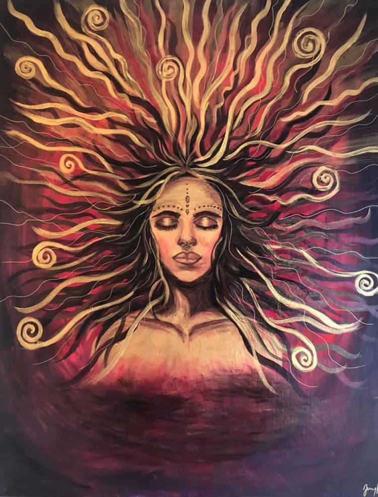 'Awakening The Divine', 2020, ett konstverk av Jenny Molin